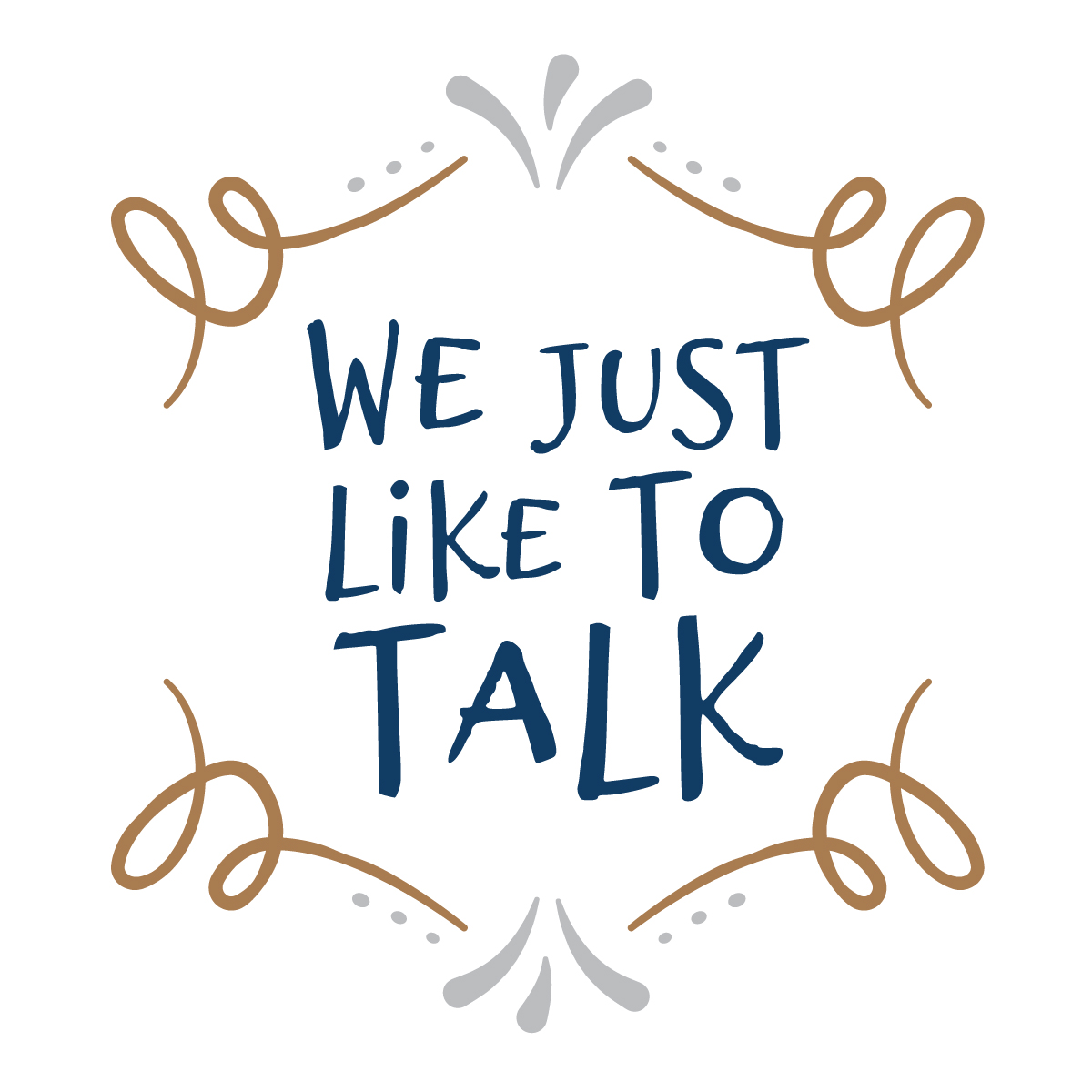 We Just Like to Talk logo